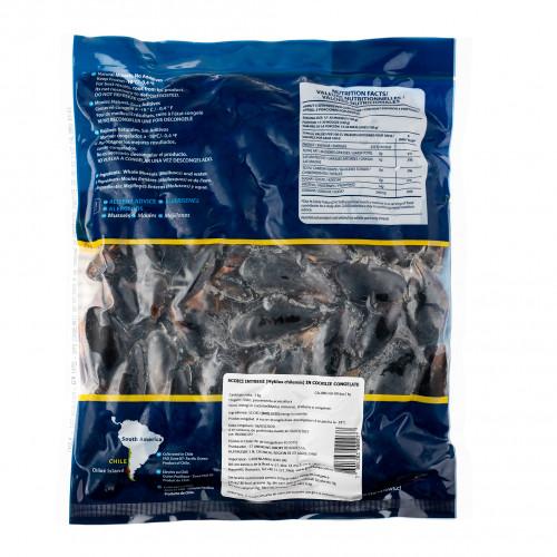 Scoici intregi Negre Pasteurizate 1kg